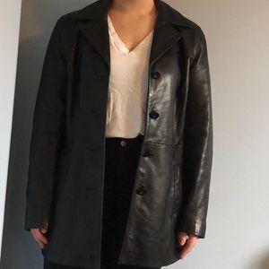 Jackets & Blazers - JLC black leather coat